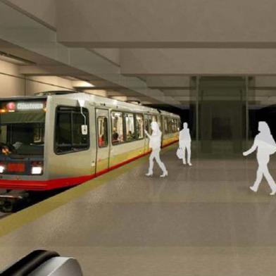 City Officials Tour Site Of Central Subway Boring Machine