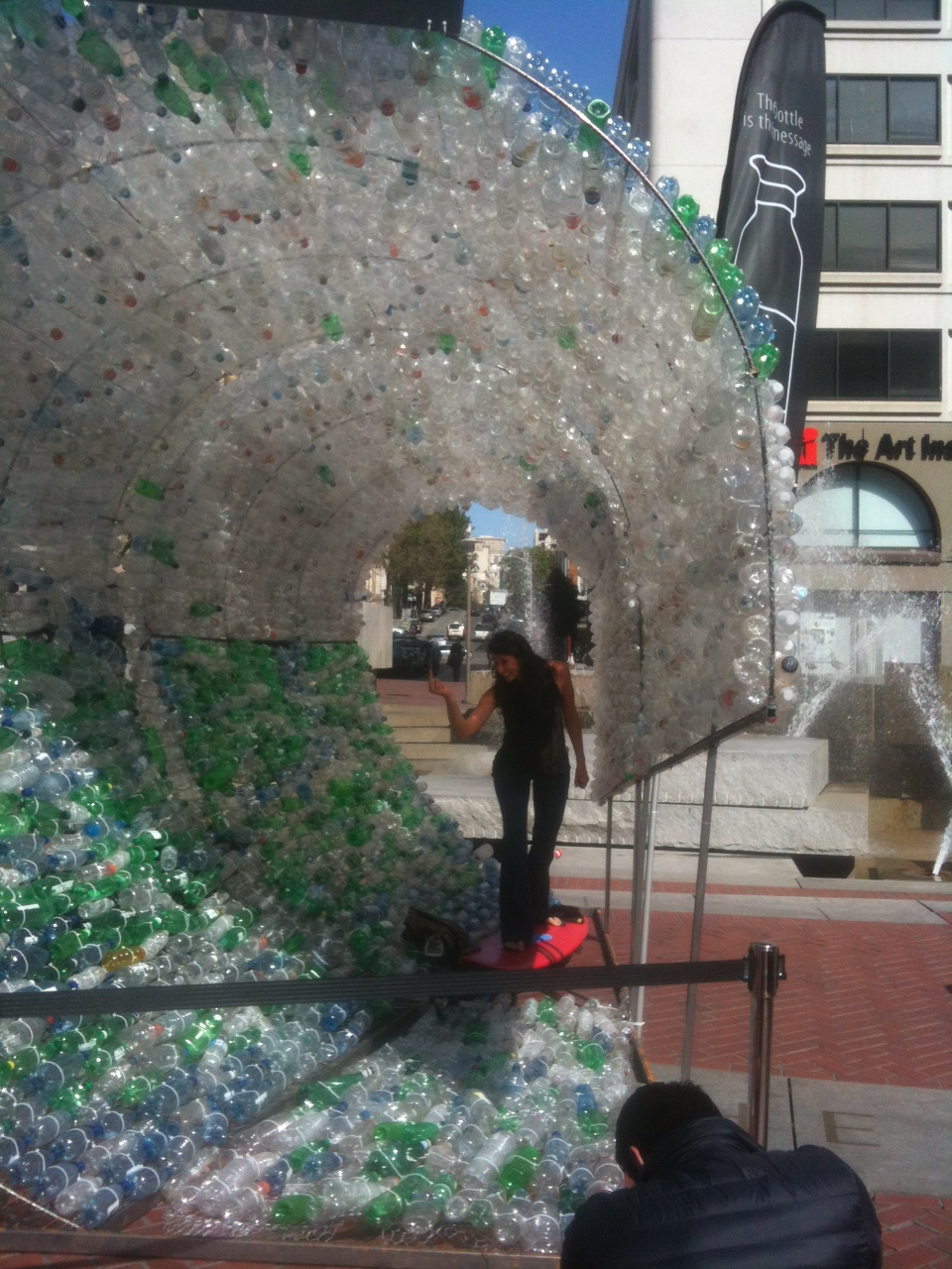 UN Plaza Hit With Plastic Wave