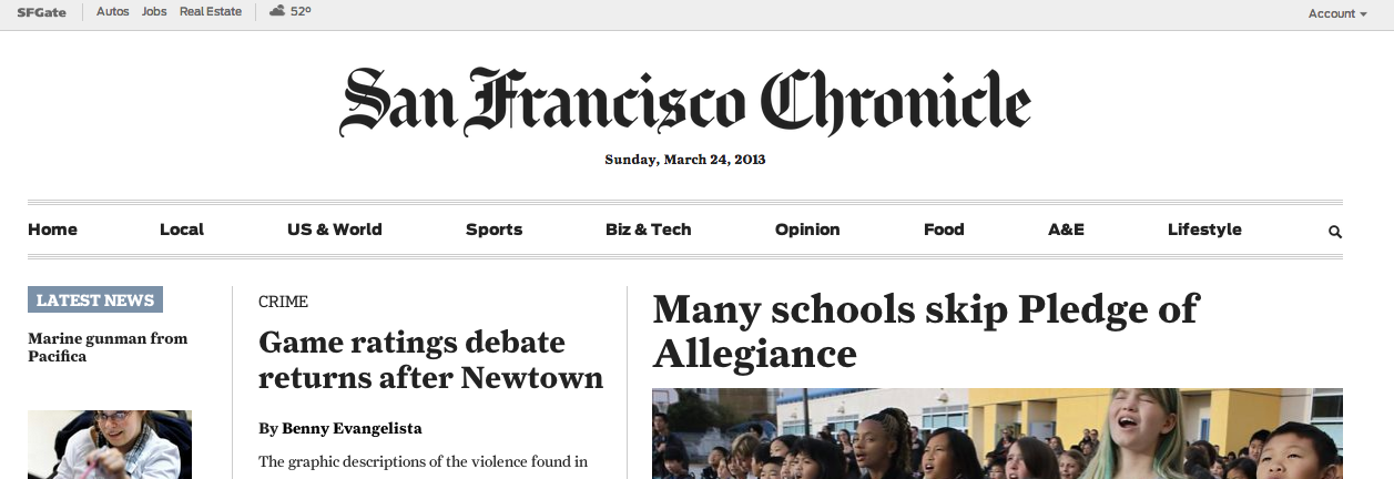 The SF Chronicle Is Now Behind A Paywall