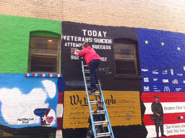 Shannon Alley Mural Altered To Highlight Growing Number Of Veteran Suicides