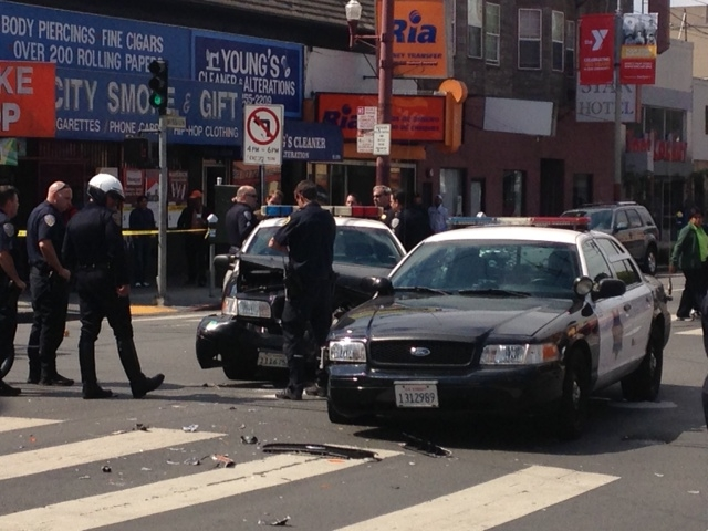 At Least One Injured When SFPD Cars Collide