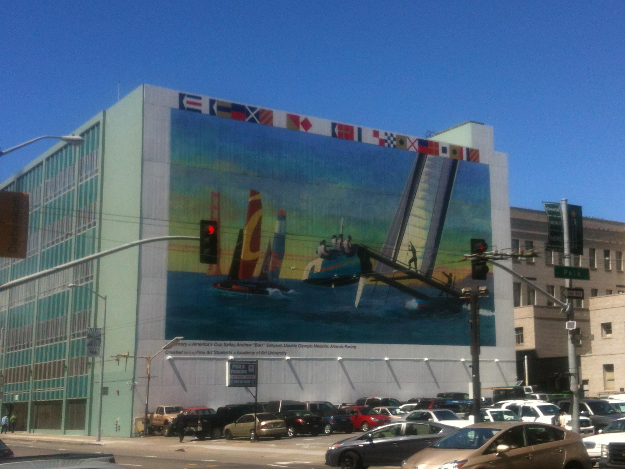 Academy of Art Mural Is Dedicated To Sailor Who Died In America's Cup Crash
