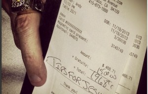 Generous Mystery Tipper Hits SF Restaurants