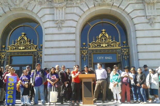 Endangered Tenants Rally In Favor Of Changes To Ellis Act Outside City Hall, Then Landlords Argue Against It Inside
