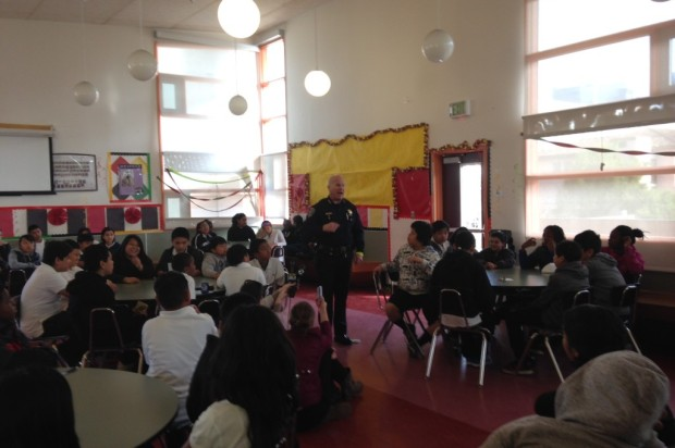 SFPD Chief Suhr Passes Out Wristbands To Kids In Effort To Improve Pedestrian Safety