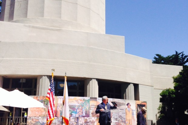 City Leaders Celebrate Reopening Of Coit Tower