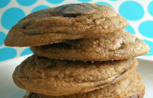 Goodies By Anna: Melty Salted Nutella Chocolate Chunk Cookies