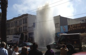 Two-Story High Gusher After Errant Driver Smashes Hydrant
