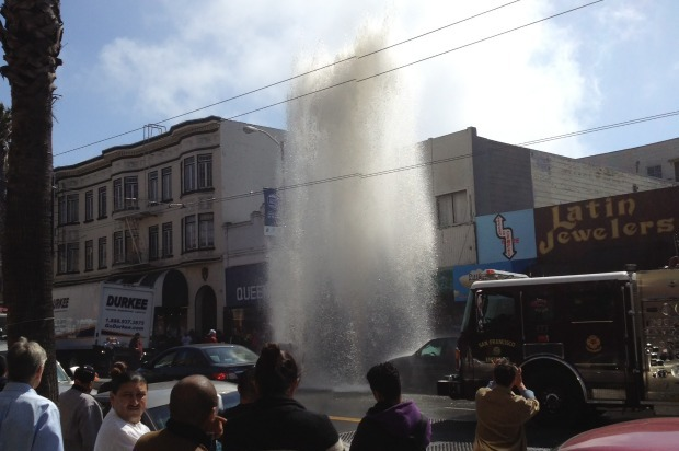 Truck Strikes Fire Hydrant in SOMA Causing Street to Flood With Water