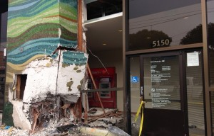 DUI Suspected After Woman Crashes Mazda Into Mission Street Bank Of America