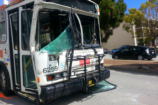 Bad Day For Muni: 20 Injured In Geary Crash, 20 More Hurt In Third St. Wreck