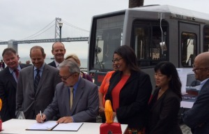 Mayor Signs $648 Million Contract For New Muni Metro Vehicles