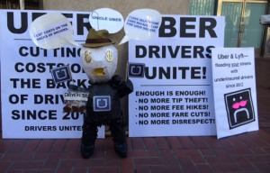 UberX Drivers Rally For Fair Pay Outside Uber Headquarters
