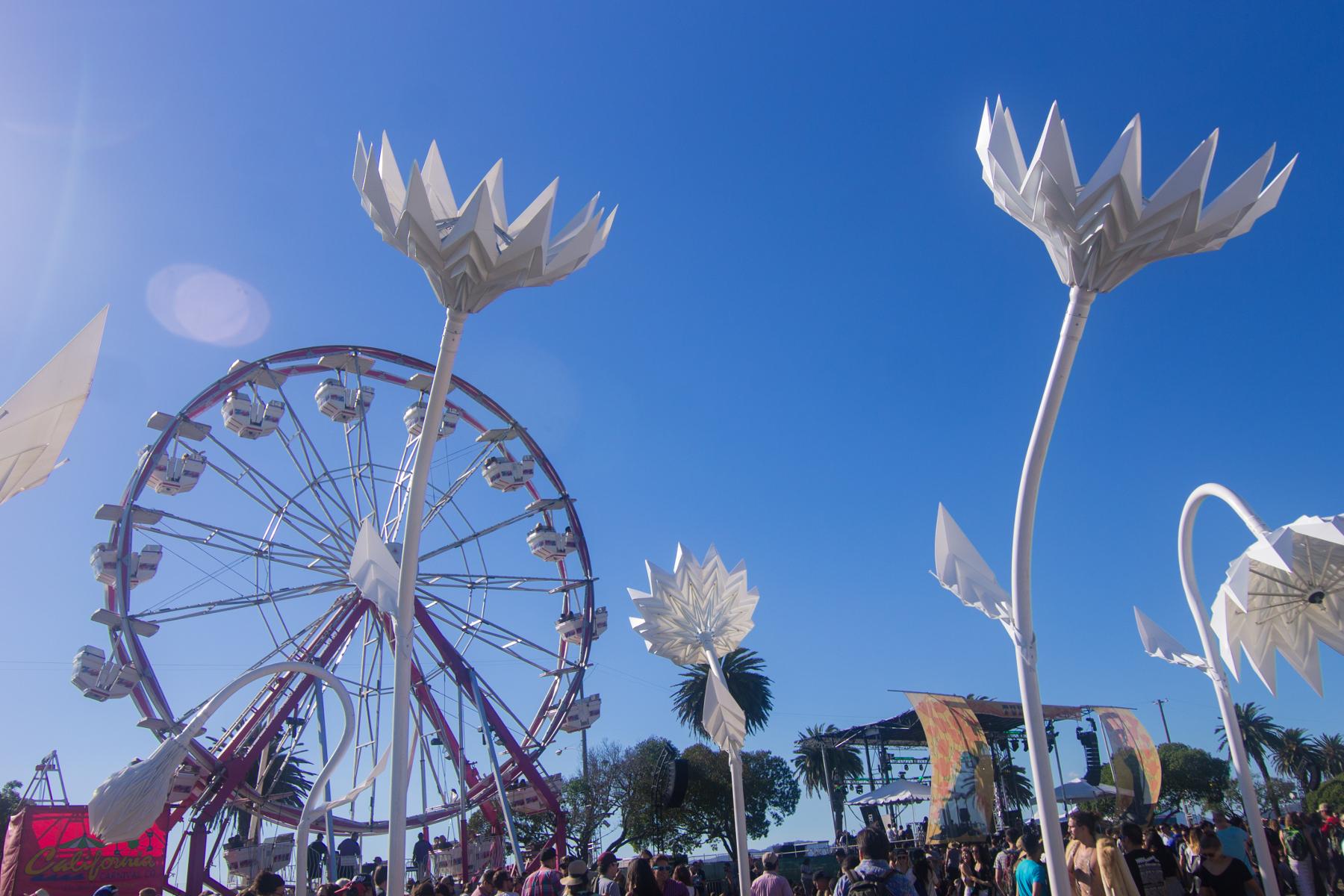 ferris wheel flowers