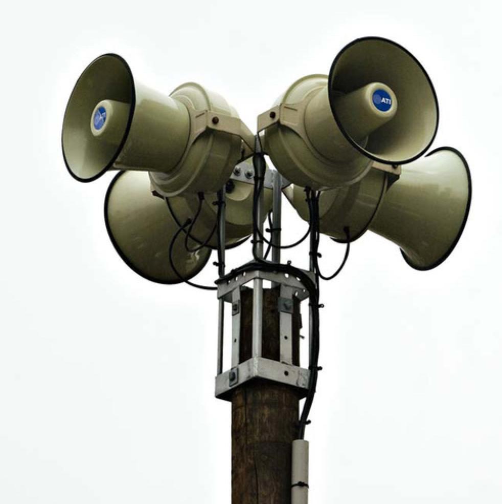 Scheduled Emergency Siren Test Sounds Following