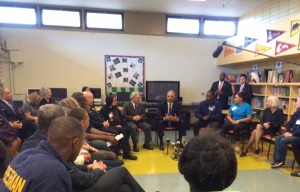 US Attorney General Eric Holder Meets With Community Members in Hunters Point