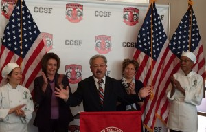 Pelosi, Mayor Lee Champion CCSF's Contributions to SF Economy