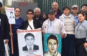 Protest Held at Mexican Consulate to Demand Answer About 43 Students Missing Since September Attack