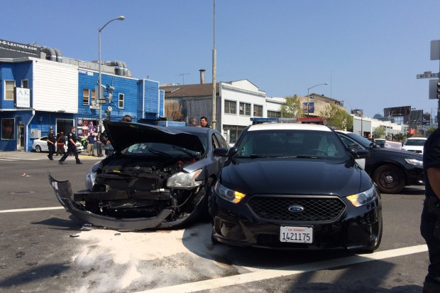 SFPD Officer Not Seriously Injured in SoMa Collision