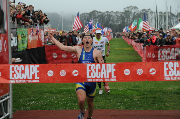 Gentle, Lagerstrom Win 35th Annual Escape from Alcatraz Traithlon