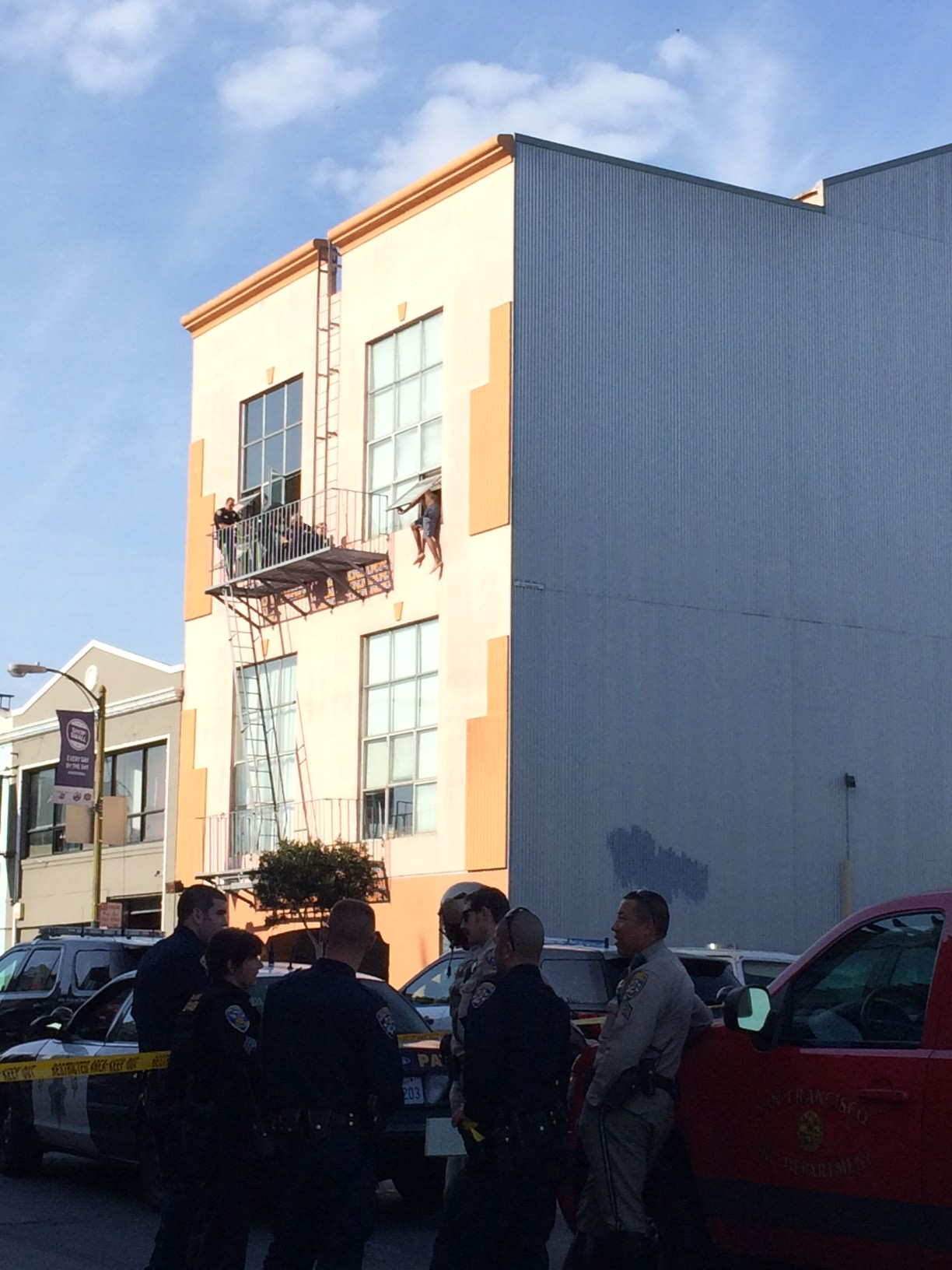 Man Threatening to Jump from Second-Story Window Taken into Custody