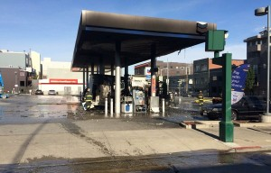 Overheated Passenger Bus Catches Fire At SOMA Gas Station